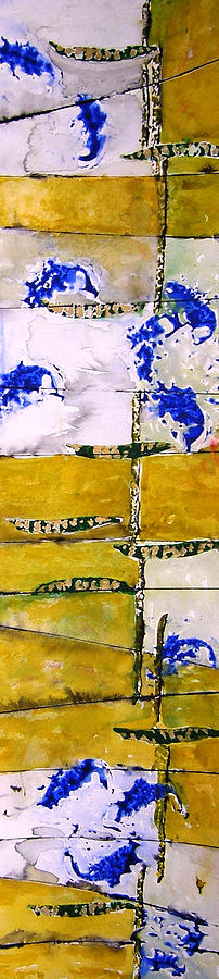 Gouache On Paper Painting - Ben And Jewel Panel 3 by Sandra Gail Teichmann-Hillesheim