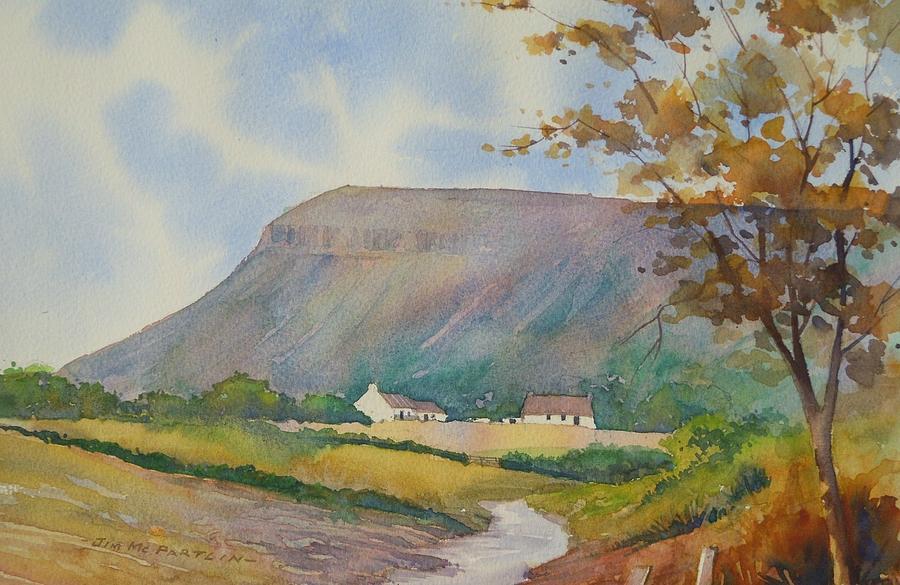 Sligo Painting - Ben Bulben Mountain by Jim Mc Partlin