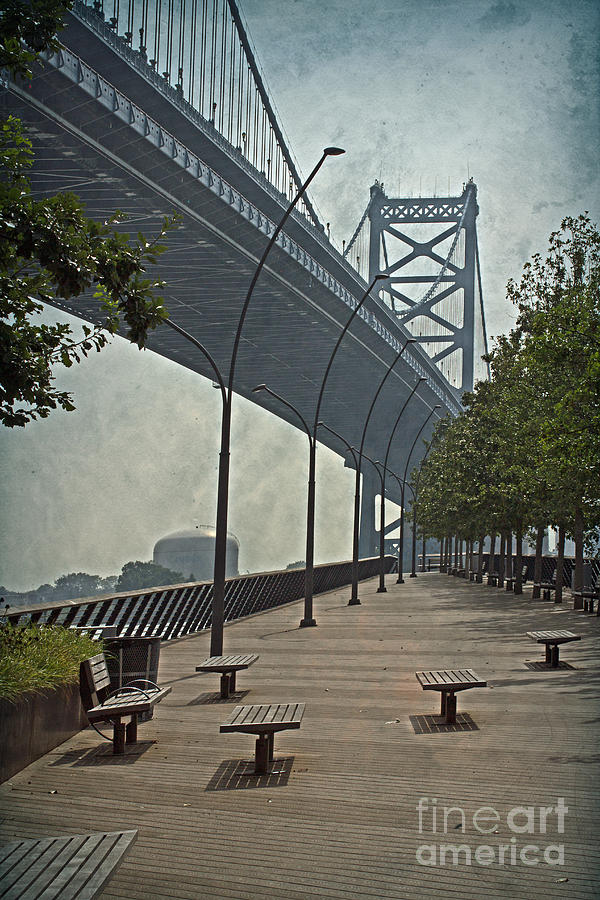Colorful Photograph - Ben Franklin Bridge And Pier by Tom Gari Gallery-Three-Photography