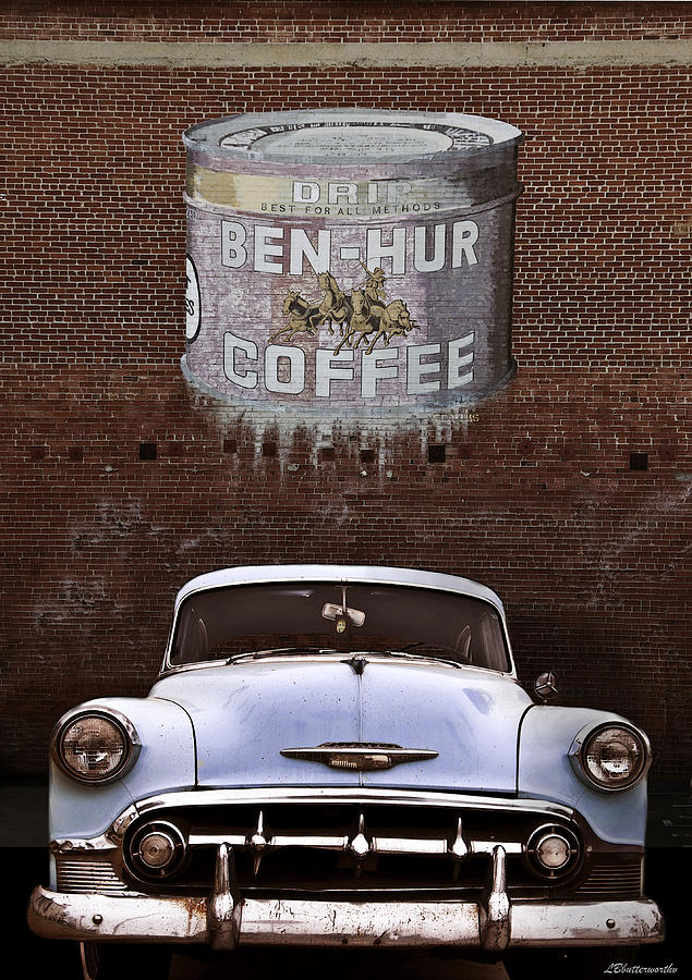 Transportation Photograph - Ben Hur Coffee by Larry Butterworth