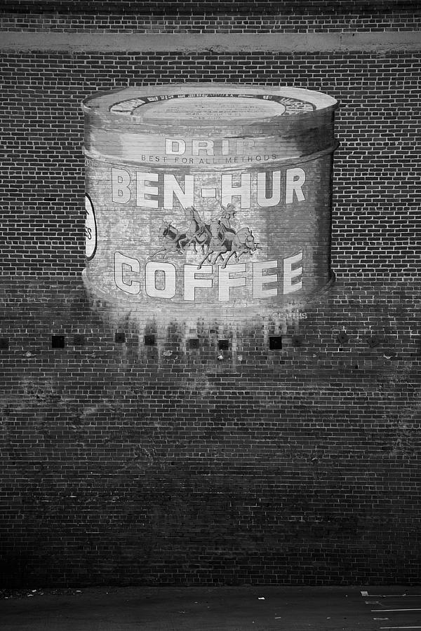 Black & White Photograph - Ben Hur Coffee by Peter Tellone