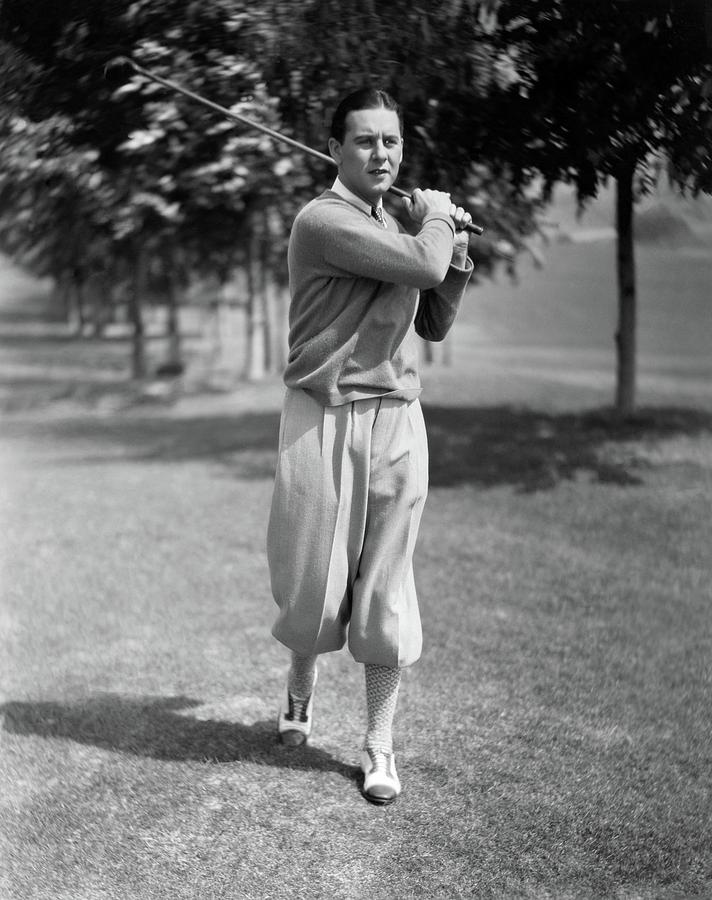 Ben lyon playing golf photograph by artist unknown