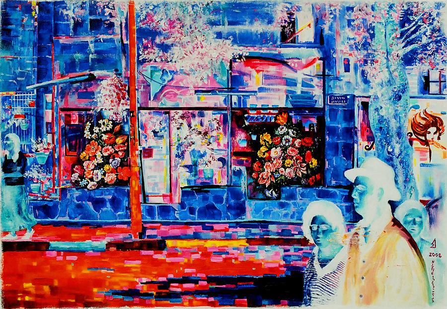 Nekoda Singer Painting - Ben-maimon Flowers by Nekoda  Singer