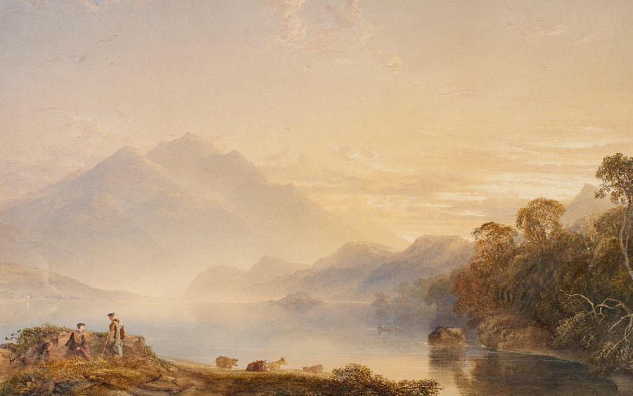 Ben Painting - Ben Venue And The Trossachs Seen From Loch Achray by Anthony Vandyke Copley Fielding