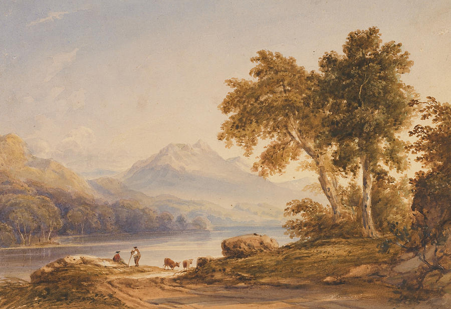 Ben Painting - Ben Vorlich And Loch Lomond by Anthony Vandyke Copley Fielding