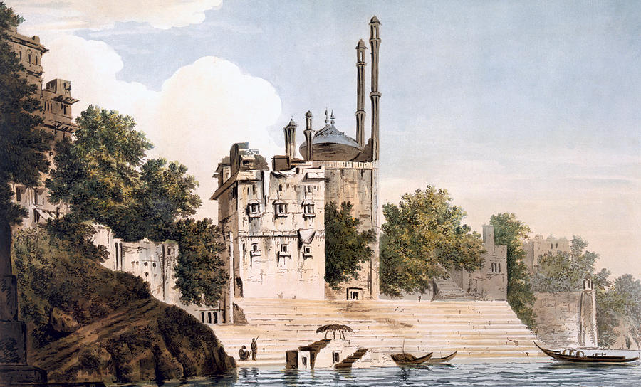 Benares Painting - Benares On The Ganges by William Hodges