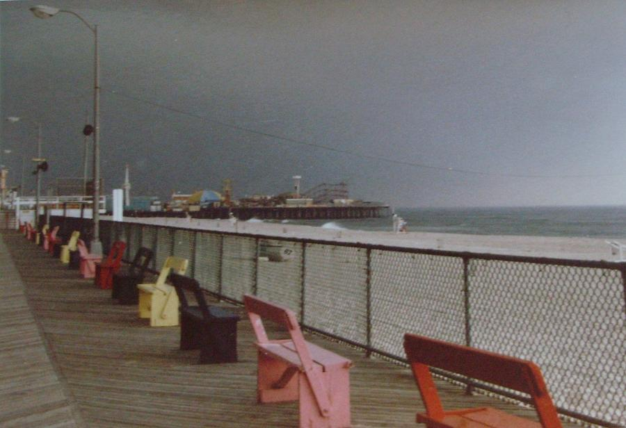 Casino Pier Photograph - Benches Of Seaside Heights Nj by Joann Renner