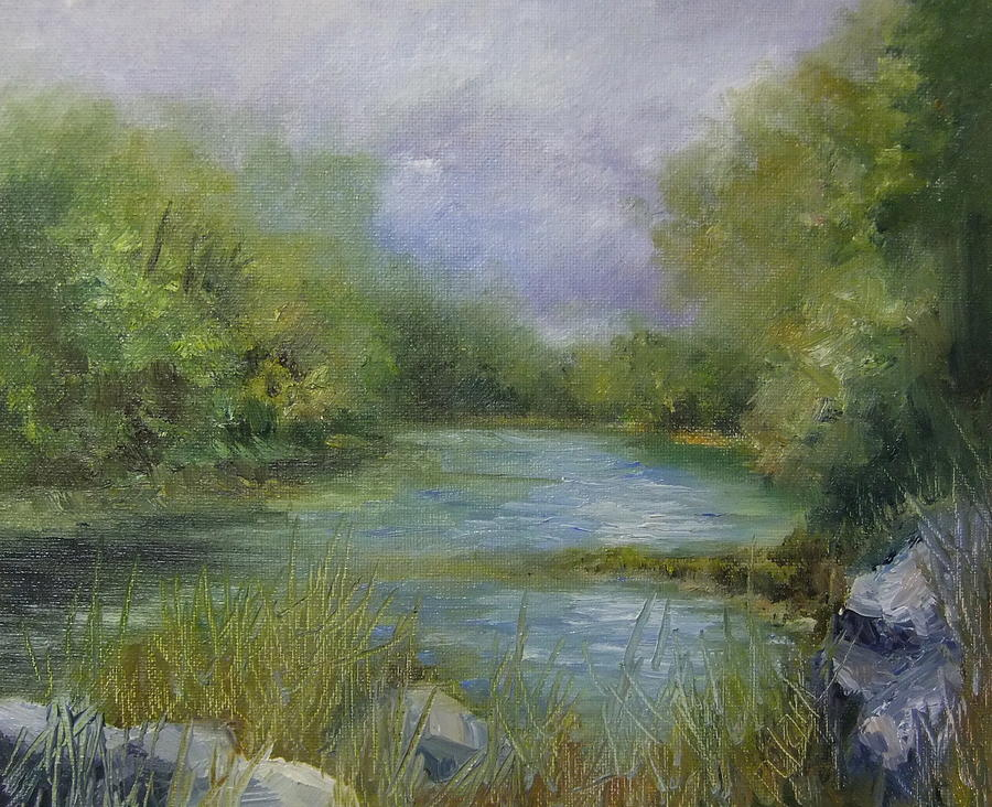 Painting Painting - Bend In The River by Donna Pierce-Clark