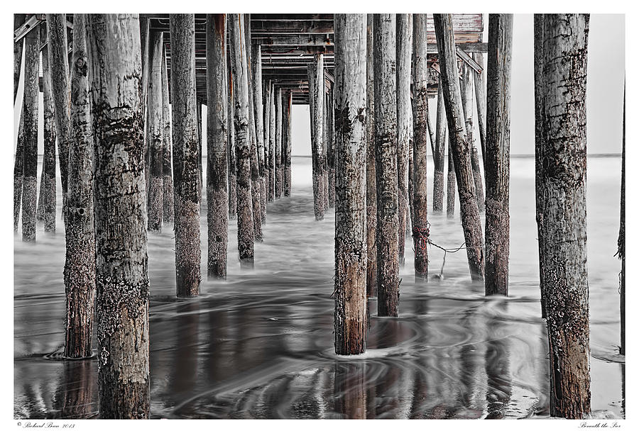 Architectural Photograph - Beneath The Pier by Richard Bean