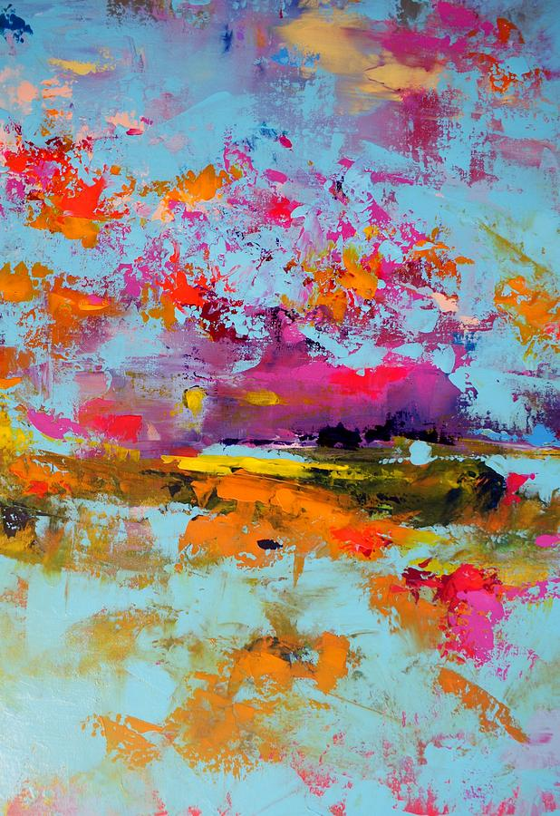 Landscape Painting - Beneath The Surface by Sally Kelly