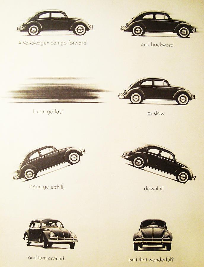 Vw Beetle Digital Art - Benefits Of A Volkwagen by Georgia Fowler