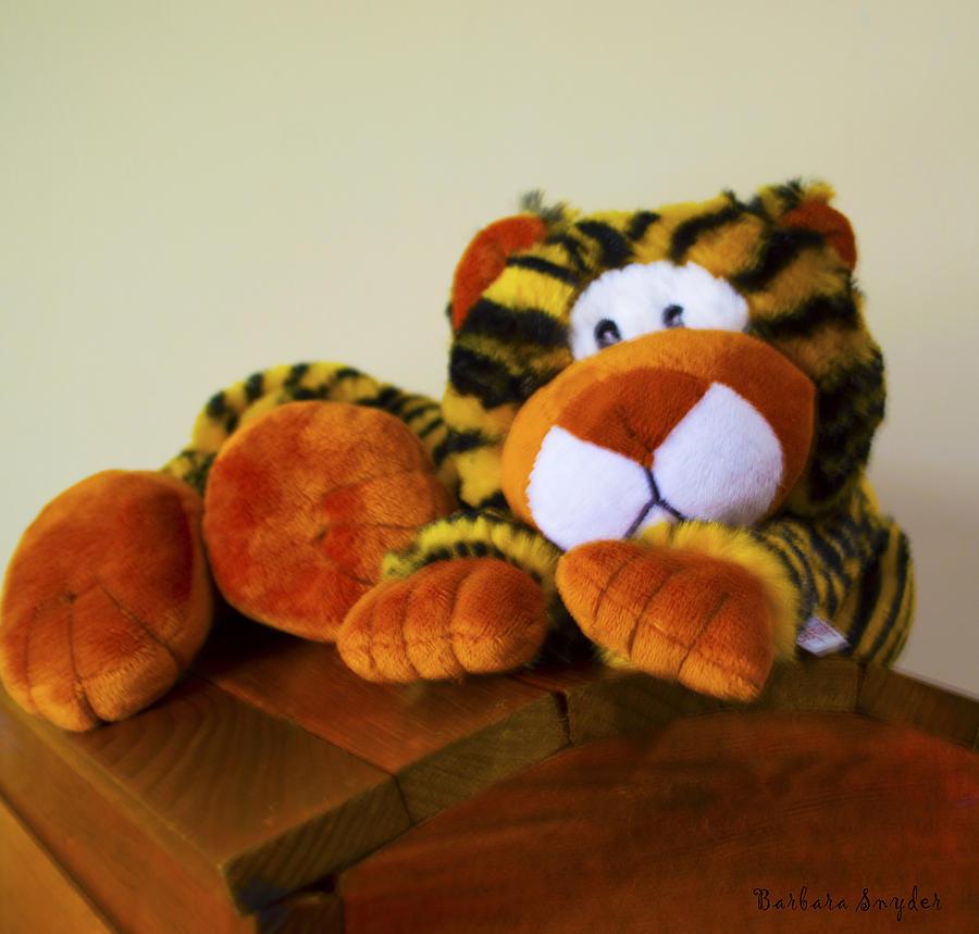 Barbara Snyder Digital Art - Bengal Tiger Abstract  by Barbara Snyder