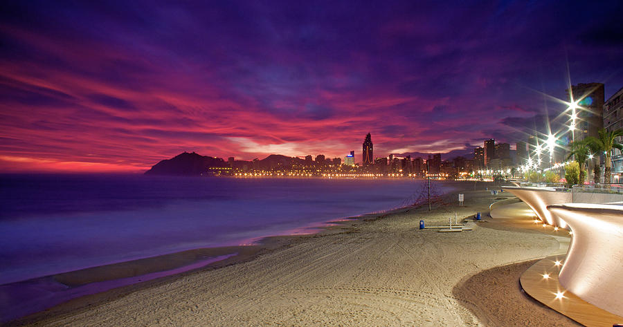 Benidorm Photograph - Benidorm At Sunset by Michael Underhill