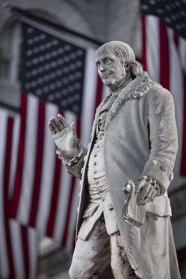 America Photograph - Benjamin Franklin by Eduard Moldoveanu