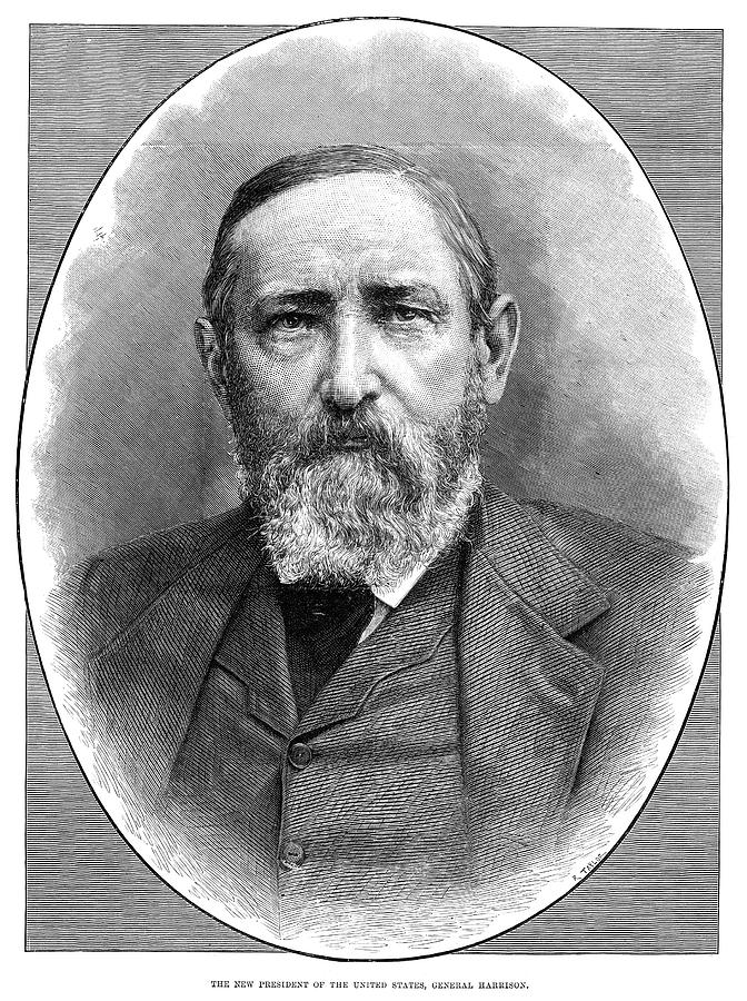 1888 Painting - Benjamin Harrison (1833-1901) by Granger