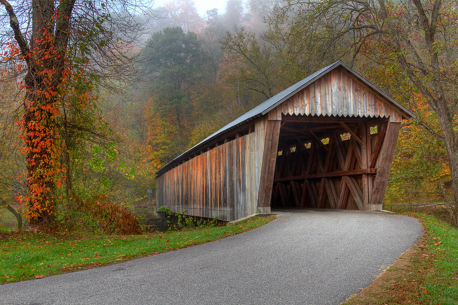 Ky Photograph - Bennett Mill Covered Bridge by Jack R Perry