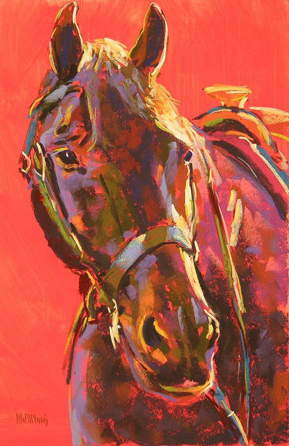 Horse Painting - Benny by Mary McInnis