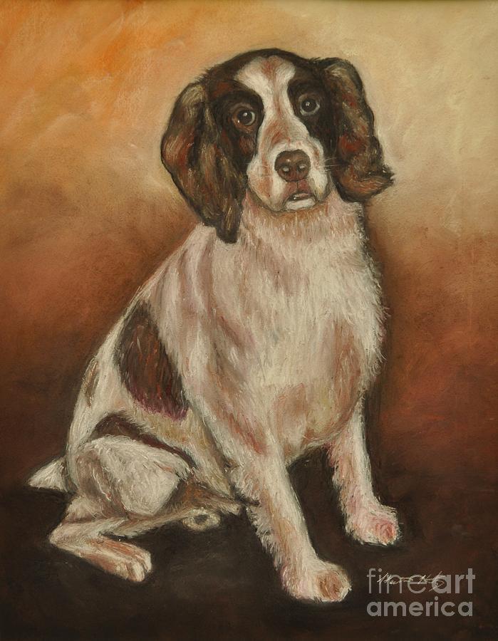 Dog Painting - Benson - English Springer Spaniel by Heather Kertzer