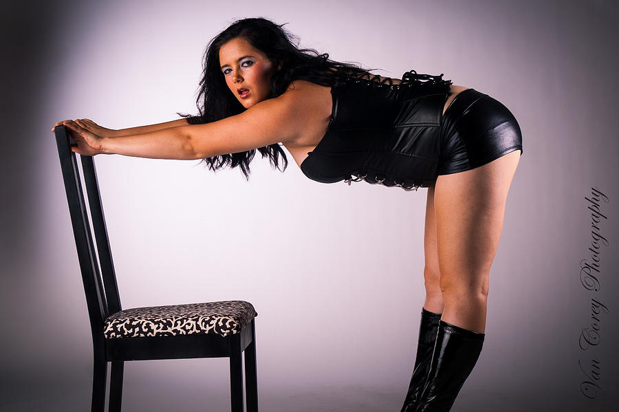 Sorry, that girl bent over chair