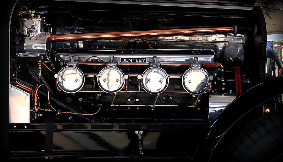 Retro Photograph - Bentley Engine by Radoslav Nedelchev