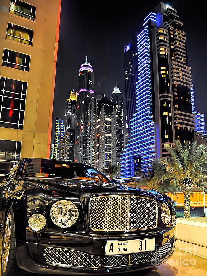 Dubai Photograph - Bentley Mulsanne by Graham Taylor
