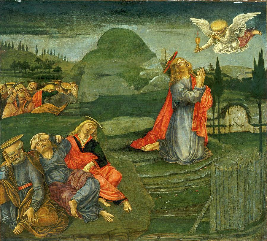 Benvenuto Di Giovanni, The Agony In The Garden Drawing by Litz ...