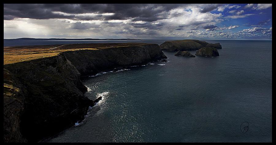 Mayo Photograph - Benwee Head by Tony Reddington