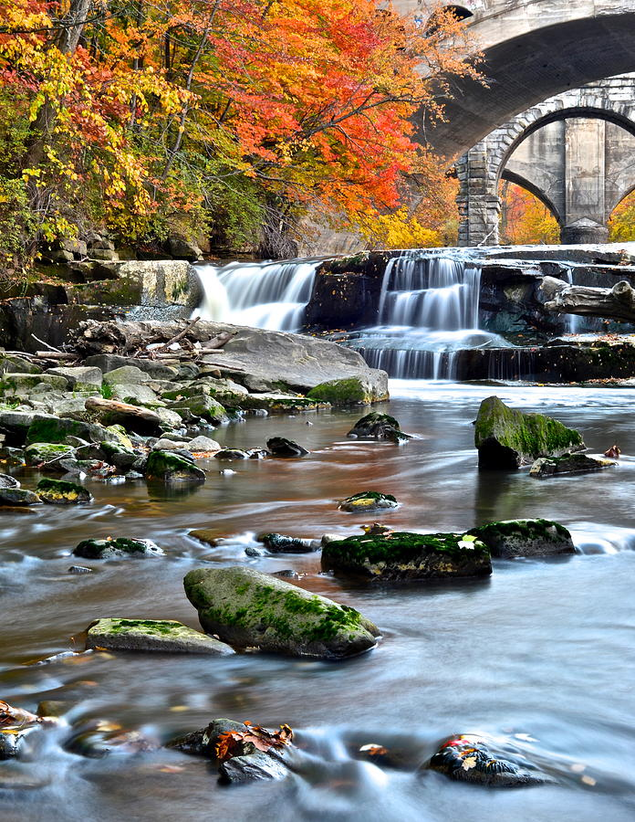Berea Photograph - Berea Falls Ohio by Frozen in Time Fine Art Photography