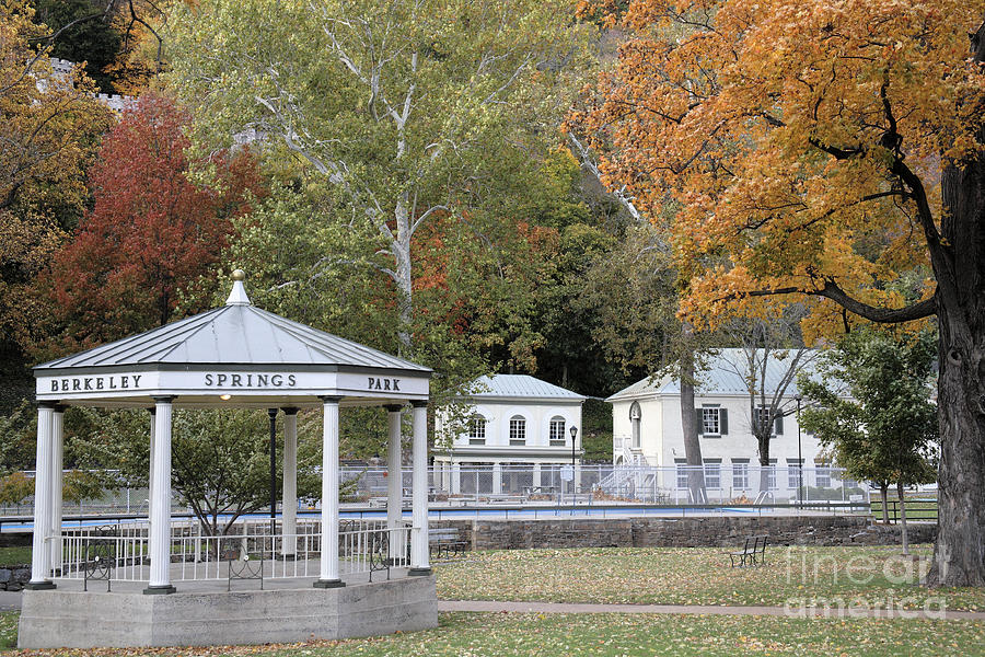 Autumn Photograph - Berkeley Springs Bandstand In West Virginia by William Kuta
