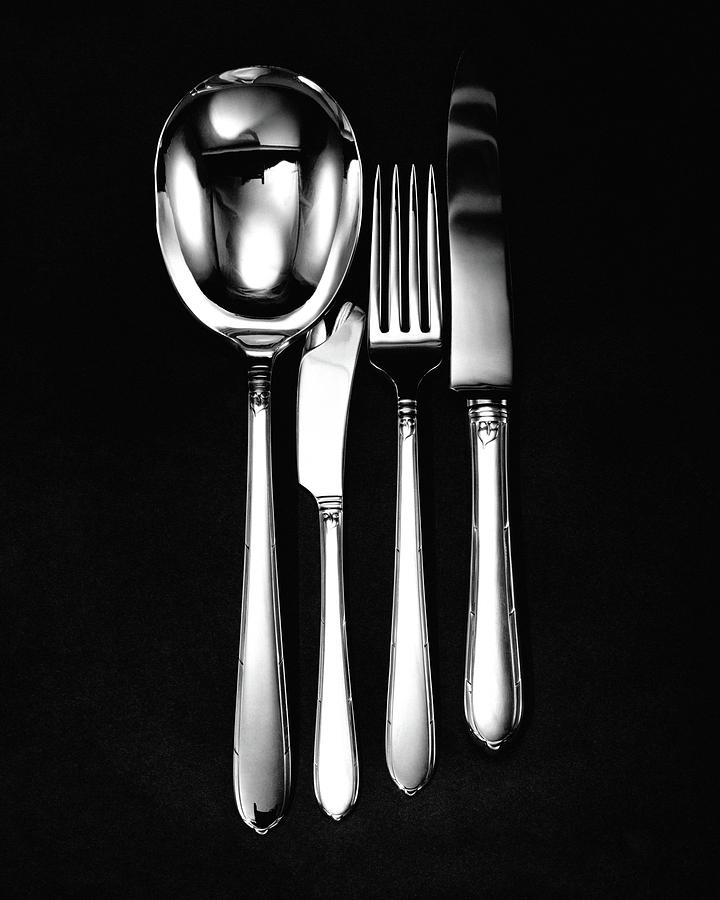 Home Accessories Photograph - Berkeley Square Silverware by Martin Bruehl