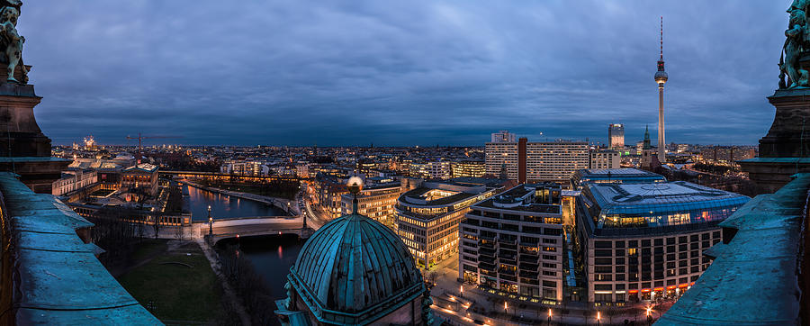 Berlin Pyrography - Berlin - Cathedral Skyline View by Jean Claude Castor