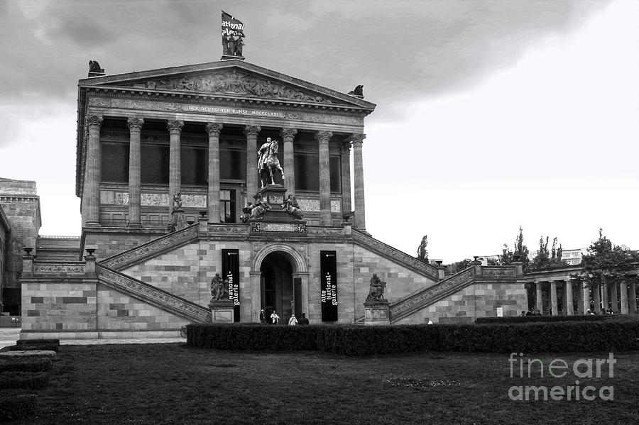 Berlin Photograph - Berlin - National Gallery - Black And White by Gregory Dyer