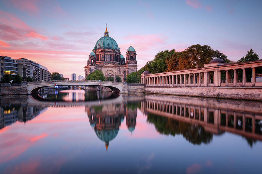 Berlin Cathedral With Friedrichsbridge Photograph by Spreephoto.de