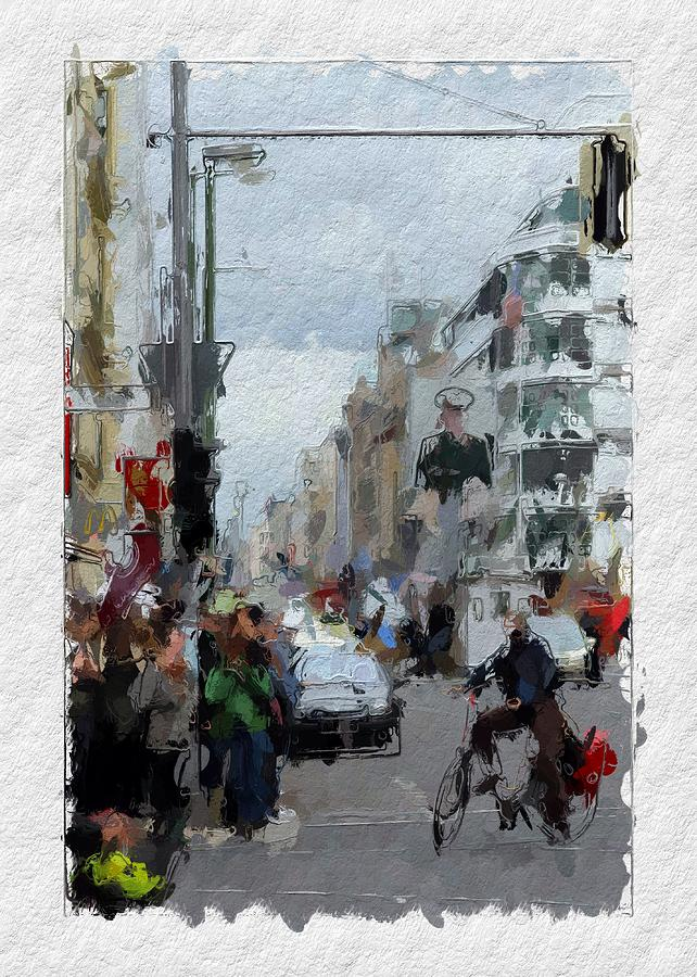 Berlin Checkpoint Charlie Painting by Steve K