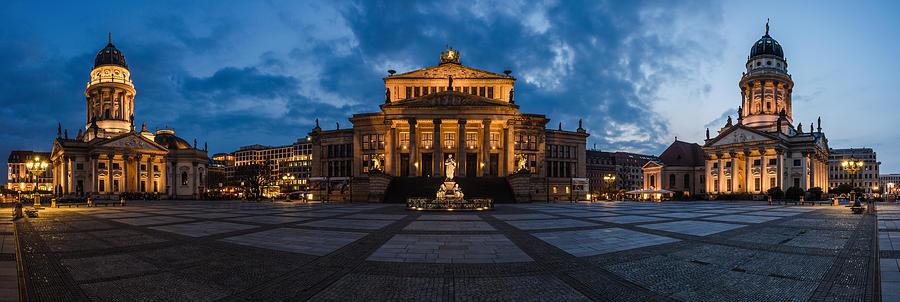 Berlin Pyrography - Berlin - Gendarmenmarkt Panorama by Jean Claude Castor