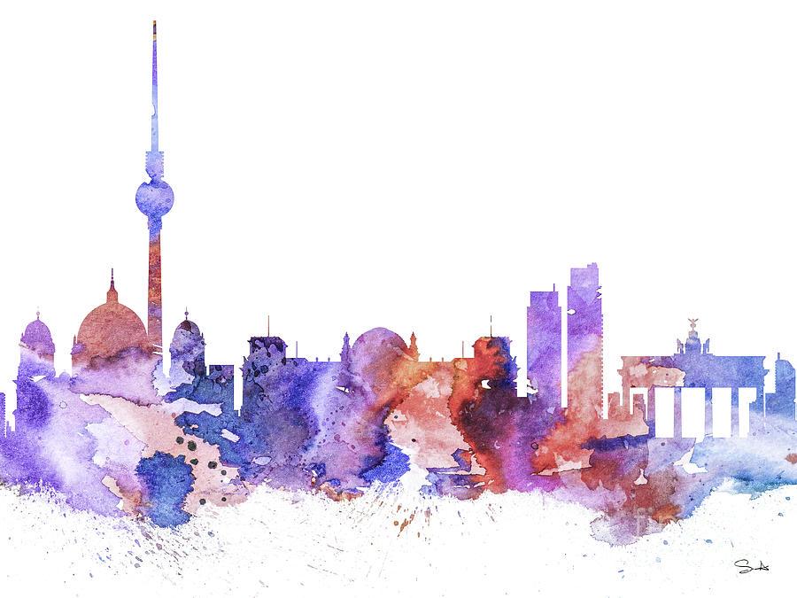 Berlin Painting By Watercolor Girl