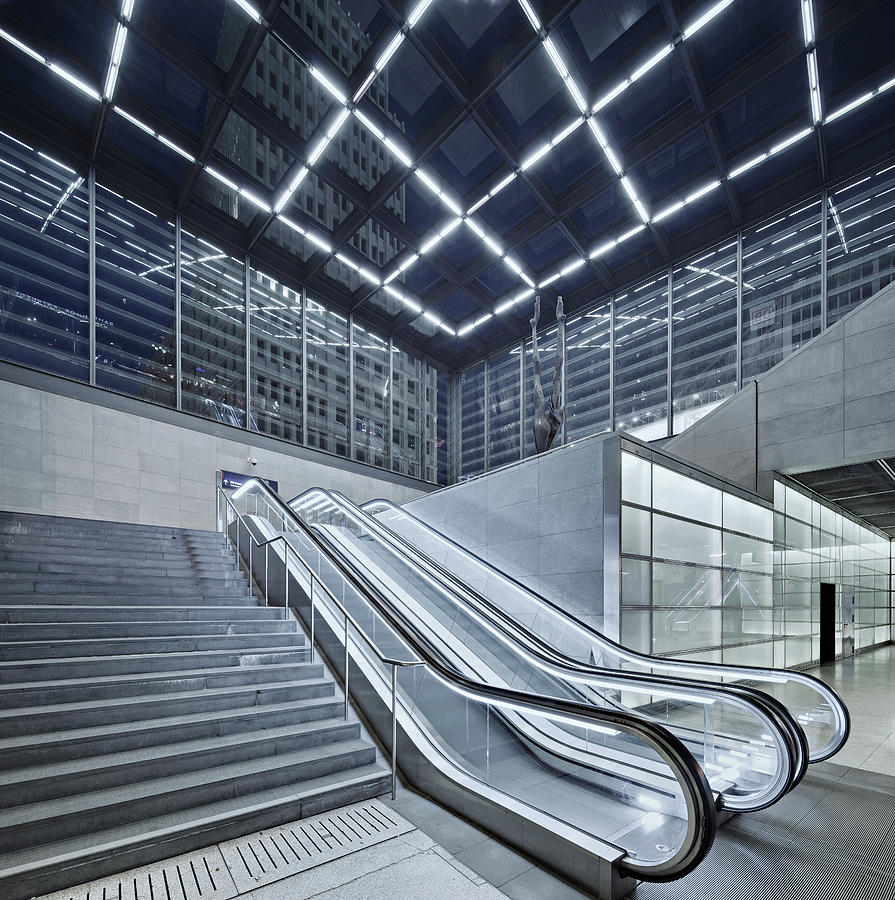 Berlin Potsdamer Platz With Escalator Photograph by Ricowde