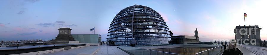 Berlin Photograph - Berlin - Reichstag Panorama by Gregory Dyer