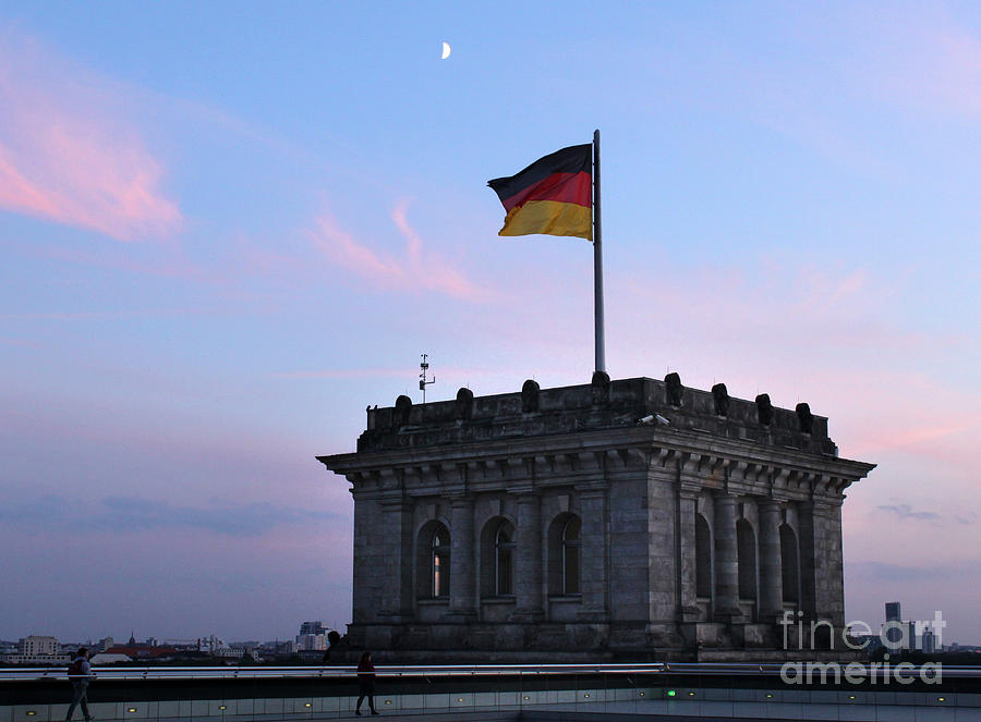 Berlin Photograph - Berlin - Reichstag Roof - No.01 by Gregory Dyer