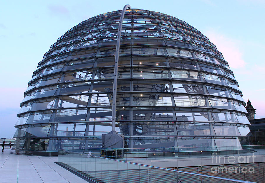 Berlin Photograph - Berlin - Reichstag Roof - No.02 by Gregory Dyer