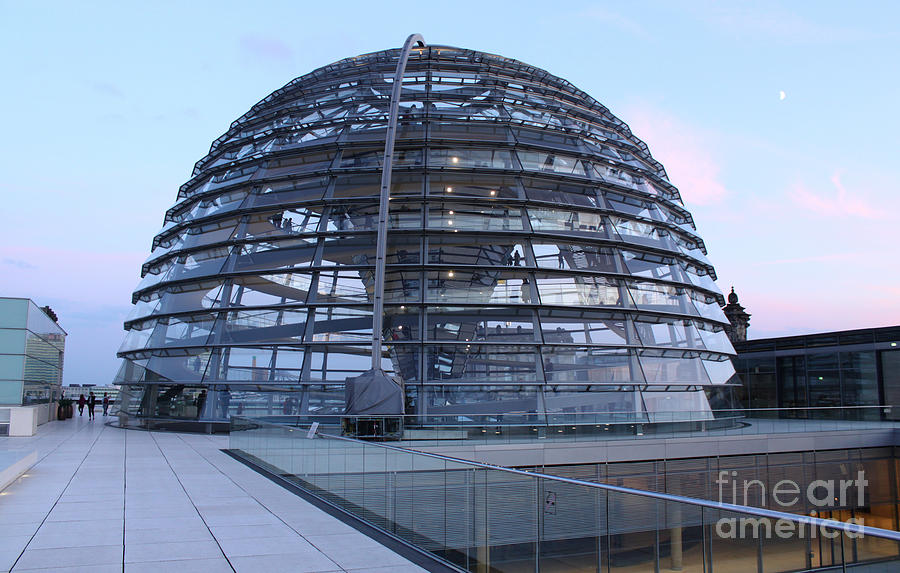 Berlin Photograph - Berlin - Reichstag Roof - No.03 by Gregory Dyer