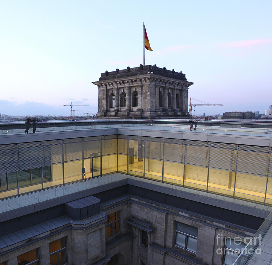 Berlin Photograph - Berlin - Reichstag Roof - No.04 by Gregory Dyer
