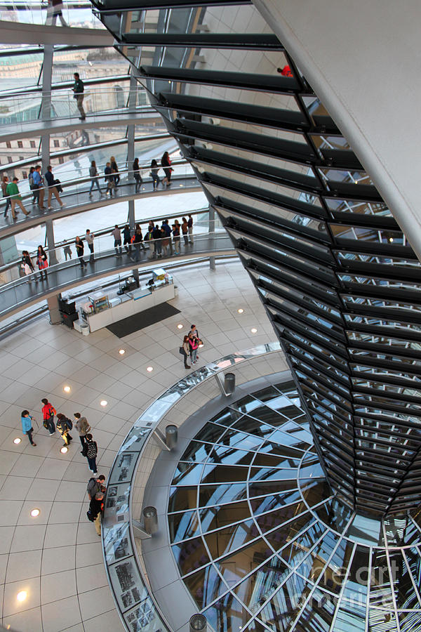 Berlin Photograph - Berlin - Reichstag Roof - No.06 by Gregory Dyer