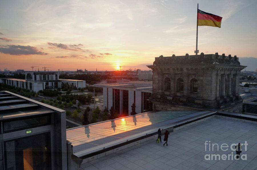 Berlin Photograph - Berlin - Reichstag Roof - No.07 by Gregory Dyer