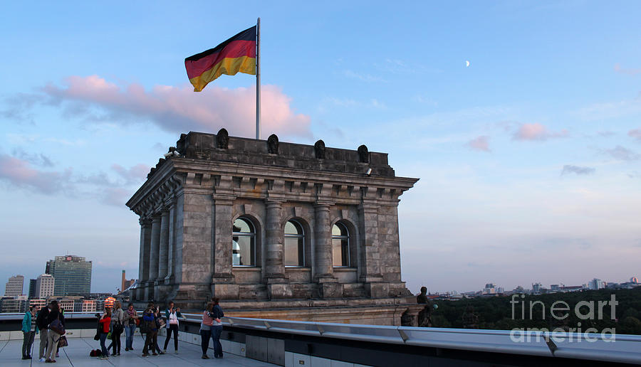 Berlin Photograph - Berlin - Reichstag Roof - No.09 by Gregory Dyer
