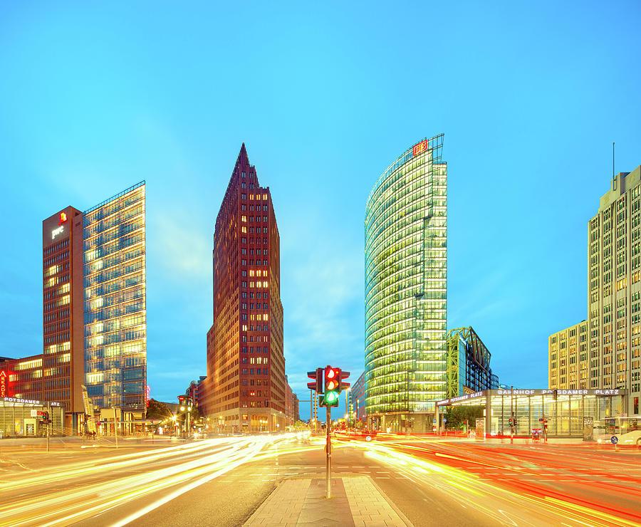 Berlin Skyline On Potsdamer Platz With Photograph by Matthias Makarinus