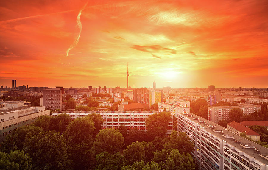 Berlin Skyline Summer Cityscape With Photograph by Matthias Makarinus