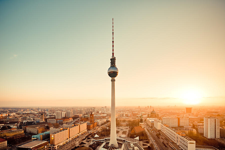 Berlin skyline with Tv Tower, (Fernsehturm) Photograph by Spreephoto.de