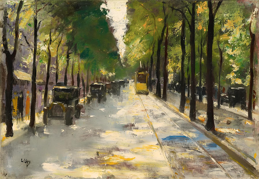 Berlin Painting - Berlin Street 1920s by Mountain Dreams