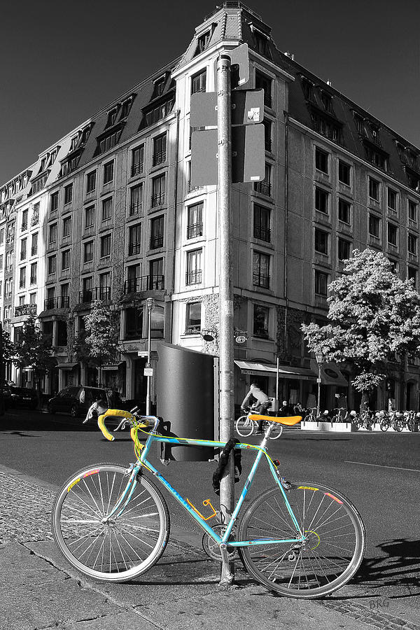 Biking Photograph - Berlin Street View With Bianchi Bike by Ben and Raisa Gertsberg